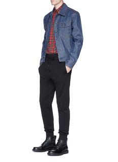 Dolce & GabbanaWestern yoke stud tartan plaid shirt