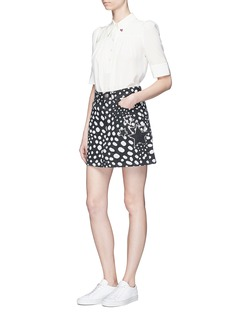 Marc Jacobs Spot print Swarovski crystal star denim skirt