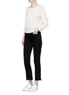 Marc Jacobs Glass pearl embellished wool-cashmere sweater
