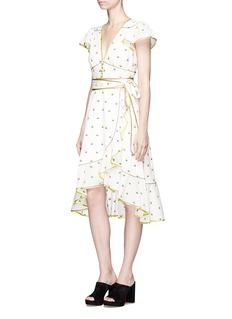 Marc Jacobs Rose fil coupé flutter sleeve blouse