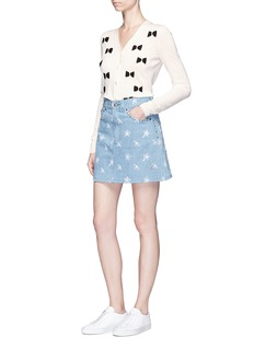 Marc Jacobs High waist stud embellished floral denim skirt
