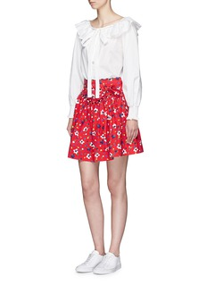 Marc Jacobs Painted flower print waist tie cotton skirt