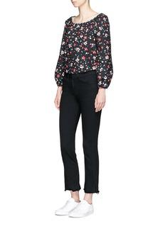 Marc JacobsPainted flower print cotton peasant blouse