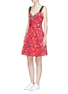 Marc Jacobs Painted flower print belted dress