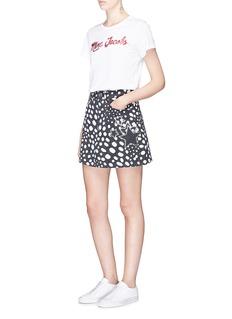Marc Jacobs Logo glitter print cotton T-shirt