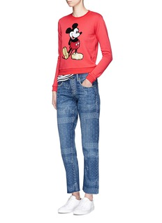 Marc Jacobs Sequin Mickey shrunken cotton terry sweatshirt