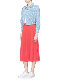 Marc Jacobs Pleated crepe de Chine midi skirt