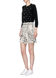 Marc Jacobs Spot print pleated crepe de Chine skirt