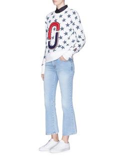 Marc Jacobs Double J logo patch star print sweatshirt