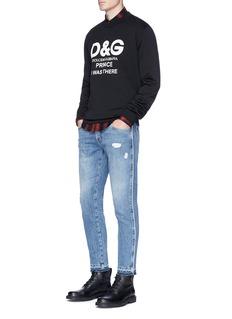 Dolce & GabbanaSlogan print sweatshirt