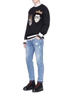 Dolce & Gabbana Face crown appliqué sweatshirt