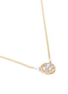 Buccellati 'Ramage' diamond 18k gold pendant necklace