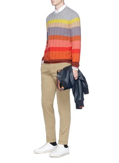 Paul Smith LondonHerringbone rib Merino wool sweater