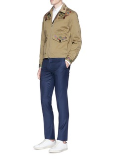 Paul Smith Monkey fil coupé twill shirt