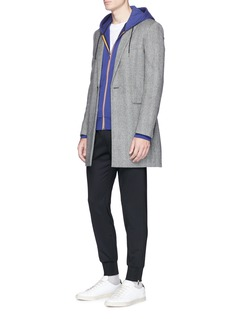 Paul Smith Contrast stripe zip hoodie