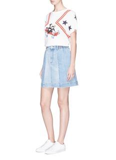 Stella McCartney 'Eileen' patchwork denim skirt