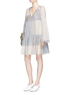 Stella McCartney 'Erika' stripe patchwork flared dress