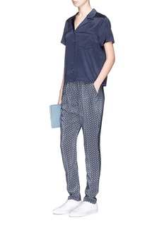 Stella McCartney 'Christine' floral print silk crepe pants