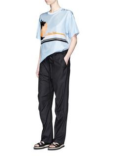 rag & bone'Seawater' drawstring waist cotton pants