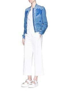 rag & bone 'Collingwood' cold shoulder twist strap cotton top