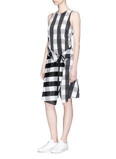 rag & bone 'Brighton' check tie waist wrap skirt dress