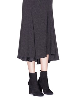 Giuseppe Zanotti Design 'Ruggente' strass heel suede booties