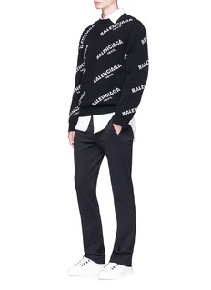 Balenciaga Zip pocket tech jersey jogging pants