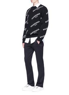 BalenciagaLogo intarsia wool sweater