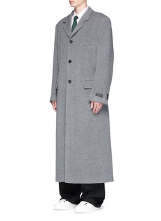 Balenciaga Brushed virgin wool long coat