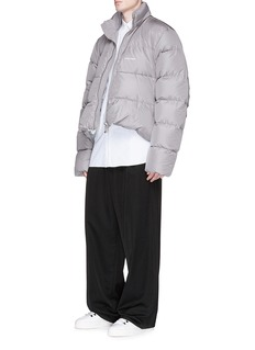 Balenciaga Curved hem down puffer jacket