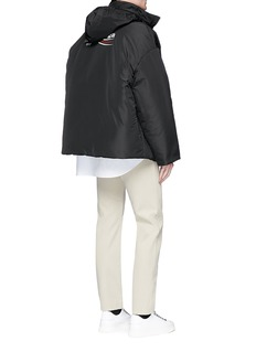 Balenciaga Presidential logo oversized padded windbreaker jacket