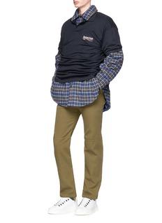 Balenciaga Drawstring cuff twill pants
