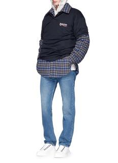 BalenciagaCheck plaid padded flannel oversized shirt jacket