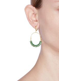 Isabel Marant 'Perky' beaded hoop earrings
