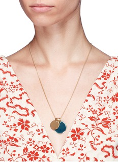 Isabel Marant'Featuring' double enamel disc pendant necklace