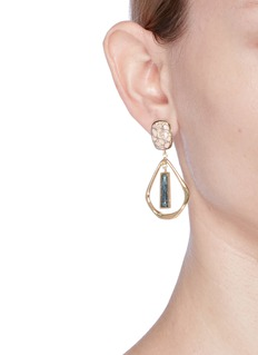 Isabel Marant Étoile 'Dancing' ceramic cabochon teardrop earrings