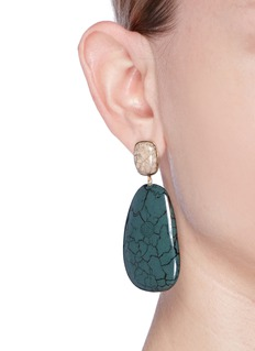Isabel Marant Étoile 'Square' ceramic cabochon drop earrings