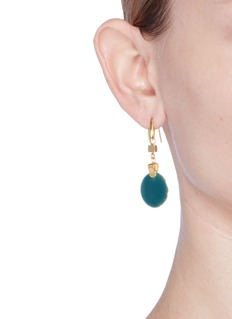 Isabel Marant Étoile 'Featuring' enamel disc geometric drop earrings