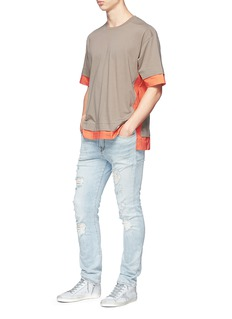 MAGIC STICK Colour block T-shirt