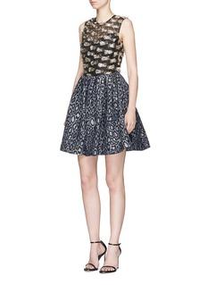 Jourden Confetti fil coupé and leopard jacquard dress