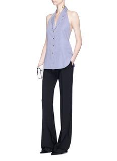 Khaite'Faye' halterneck cotton shirting vest