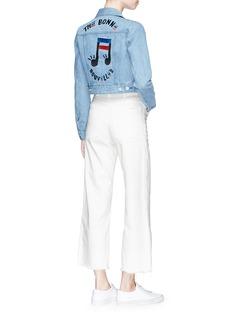 Etre Cecile  'The Bonne Nouvelles' embroidered cropped denim jacket
