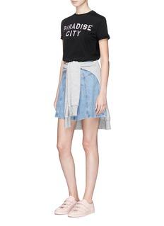 Etre Cecile 'Paradise City' metallic foil print T-shirt