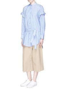 ENFÖLDRuffle stripe cotton poplin shirt dress