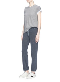 James Perse Garment dyed cotton French terry sweatpants