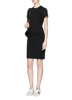 James Perse Twist front drape dress