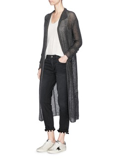 James Perse Cashmere open knit robe cardigan