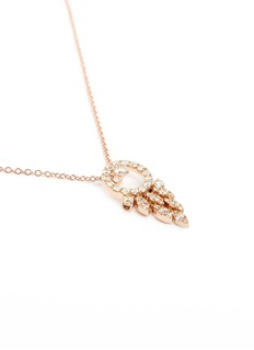 Ferrari Firenze 'Sole' diamond swing pendant 18k rose gold necklace
