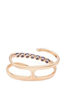 Ferrari Firenze 'Light' diamond sapphire 18k rose gold two finger ring