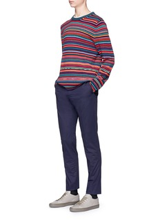 PS by Paul Smith Stripe Merino wool-cotton sweater